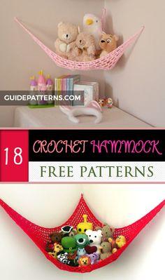 Crochet Toy Hammock Free Pattern Source by jdgiffo Crochet Gratis, Free Crochet, Crochet Teddy, Crochet Baby, Crochet Home, Crochet For Kids, Stuffed Animal Hammock, Stuffed Animals, Toy Net