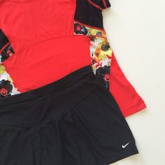 Nike skorts Black with large front pleat and in excellent condition. Nike Other