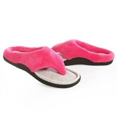 Isotoner Women's Cabanas Microterry Velour Hoodback Thong Slippers ~ Details ->> http://amzn.to/Mfx3Iw
