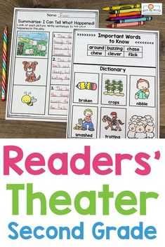 Readers' Theater Passages 2ND GRADE - This 289 page download includes ten readers' theatre plays in two different formats. Great for literacy centers, partner work, shared reading, fluency groups, and more. These are professionally leveled by Lexile. Click through to see how to use these with your second graders in the classroom or homeschool setting. #Reading #2ndGrade Elementary School Library, Elementary Schools, Reading Fluency, Guided Reading, Theatre Plays, Lexile, Readers Theater, School Librarian, Shared Reading