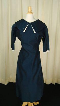 Vintage Dresses, Vintage Outfits, Morning Dress, Big Bows, Wiggle Dress, 1950s Fashion, Vintage Fabrics, Best Brand, Sailor
