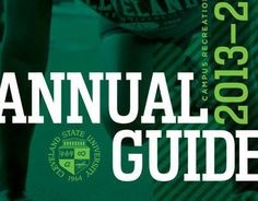 """Check out this @Behance project: """"Cleveland State Rec Annual Guide"""" https://www.behance.net/gallery/10871779/Cleveland-State-Rec-Annual-Guide"""