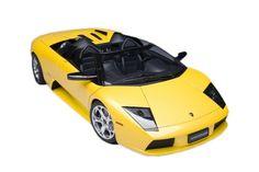 F/S AUTOart LAMBORGHINI MURCIELAGO ROADSTER YELLOW 12081 1/12 Scale Model Car #AUTOart #LAMBORGHINI