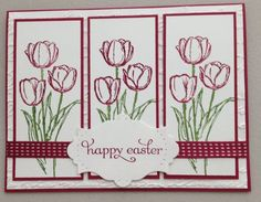 Blessed Easter, Delightful Dozen (sentiment), Apothecary Accents Framelits, 2012-2014 In Color Stitched Satin Ribbon (Raspberry Ripple)
