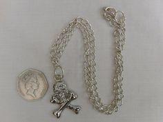 Necklace Pendant Halloween Jewellery Silver by OswestryJewels