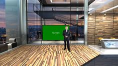 Gallery Style with Sunset View Virtual Studio Set Virtual Studio, Floor Design, Wooden Flooring, Studios, Presentation, Sunset, Gallery, Style, Wood Flooring