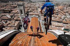 Downhill dalla cupola del duomo di Firenze (fake)