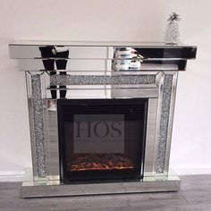 PRE ORDER Diamond Crush Fire Place with Electric Fire