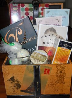 Gift Basket for book lovers