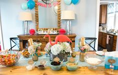 Flamingo First Birthday Party Ideas