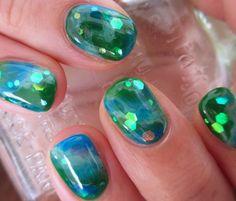 高円寺のネイルサロン nail haco : 地球は青かった。ネイル。