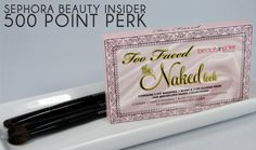Latest Sephora #Beauty Insider 500-Point Perk: Too Faced The Naked Kit! Click through for review/photos #makeup