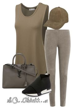 """Khaki"" by scarletoliviax on Polyvore featuring Doublju, Steffen Schraut, Yves Saint Laurent and Balenciaga"