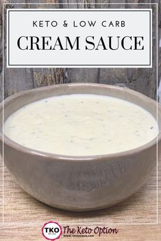 Keto Cream Sauce | Keto Recipe | Keto Diet | Low Carb Sauce | Visit trinakrug.com/recipes
