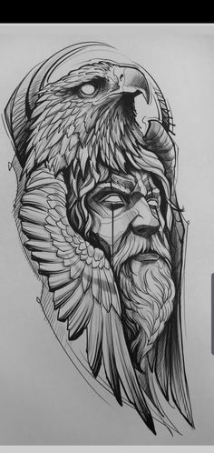 eagle head sketch tattoo is part of Mother Daughter tattoos For 4 - Mother Daughter tattoos For 4 Tattoo Design Drawings, Tattoo Sleeve Designs, Tattoo Sketches, Tattoo Designs Men, Sleeve Tattoos, Viking Tattoo Sleeve, Viking Tattoo Design, Hai Tattoos, Eagle Tattoos