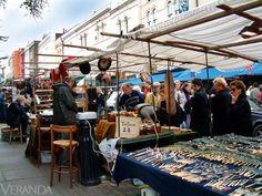 Mercado de las pulgas, Londres.