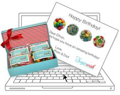 "A Sugarwish starts as a sweet thought or ""wish"" (which is sent as an e-card).    The e-card guides your gift recipient to our website to select their favorite candies. Their candy is then packaged in our signature box, tied with a ribbon, and shipped right to their door.    I think this might be my teacher gift of choice this holiday season..."
