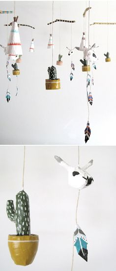 The Jealous Curator /// curated contemporary art /// kim baise Mobiles, Diy For Kids, Crafts For Kids, Diy And Crafts, Arts And Crafts, Paper Toy, Paper Mache Crafts, Mobile Art, Art Lessons