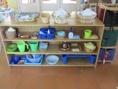 Beautiful Sun Montessori: Shelves Setup-- Wow, what an incredible variety of supplies for their children. Montessori Classroom Layout, Montessori Trays, Reggio Classroom, Montessori Education, Montessori Baby, Montessori Activities, Classroom Design, Toddler Activities, Preschool Rooms