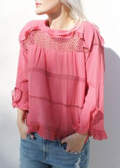 How pretty is the The Cadix Top in Raspbery ($510.00)?! Shop this new arrival over on the blog! #dianiboutique