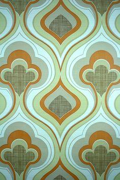vintage geometric wallpaper with funky seventies pattern.