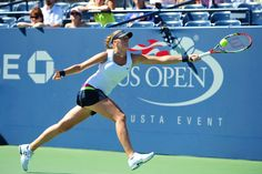 Petra Kvitova (CZE)[5] defeated Alize Cornet (FRA), 6-4, 6-3, in Louis Armstrong Stadium during Day 3 at the US Open. -
