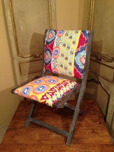 Anthropologie Suzani Terai Folding Chair Quilt Fabric #Anthropologie