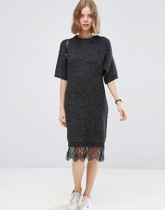 Dress update inspo- add lace trim to the bottom