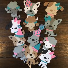 Puppy Dog Cupcake Toppers, Puppy Party, Dog Adoption Party, Puppy Party Decor, Puppy Cupcake Toppers by TookiesLLC on Etsy https://www.etsy.com/listing/275737630/puppy-dog-cupcake-toppers-puppy-party