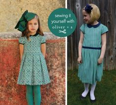Oliver + S Fairy Tale Dress with Garden Party sleeves