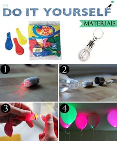 Balão de Led, Led Baloon, neon party, disco party