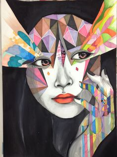 My response to Minjae Lee Art Collages, Collage Art, A Level Art, Arts Ed, Art Journal Inspiration, Geometric Art, Art Techniques, Acrylics, Painting & Drawing
