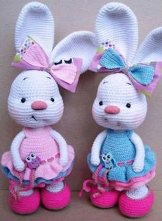 Adorable Crochet Bunnies Free Patterns