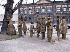 Tree hugger project in Poznan, Poland by artists Wiktor Szostalo and Agnieszka Gradzik