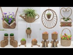 Sisal, King Craft, Jute Crafts, Potted Plants, Plant Hanger, Reuse, The Creator, Place Card Holders, Amazing