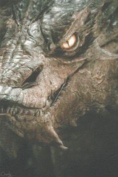 Yúid ó Smaug ( Smaug's face )