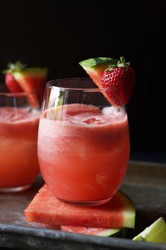 Sparkling Watermelon Strawberry Refresher