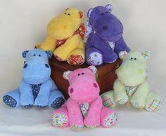Soft handmade plush hippo by RiverZend on Etsy, $30.00