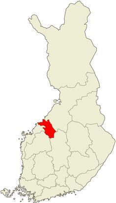 Central Ostrobothnia province of Western Finland - Keski-Pohjanmaa.