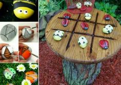 Tic Tac Toe Garden Table