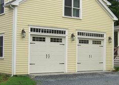 Modern Style Garage Doors With Windows Door Makeovers Trompe Loeil And Traditional
