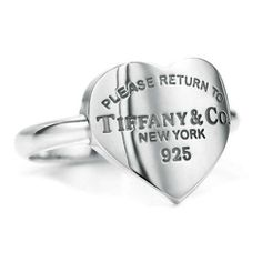 Tiffany & Co. Return to Tiffany Heart Tag Ring Tiffany & Co. Return to Tiffany Heart Tag Ring Tiffany & Co., Tiffany Rings, Tiffany Jewelry, Tiffany Outlet, Tiffany Bracelets, Tiffany Necklace, Return To Tiffany, Do It Yourself Jewelry, Like Me