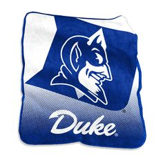 NCAA Duke Blue Devils Logo Brands Raschel Throw Blanket 35e5c055aa52