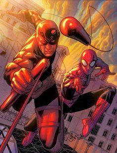 Daredevil & Spider-Man by Paulo Siquiera