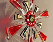 Fused Glass Christmas Star  - Tree Ornament / Suncatcher