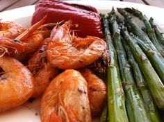 Sauteed shrimp and grilled vegetables - http://www.amazon.com/Smart-Cooking-Busy-People-ebook/dp/B00CQX26OM/ref=la_B00CR71RSS_1_1?ie=UTF8=1368421900=1-1
