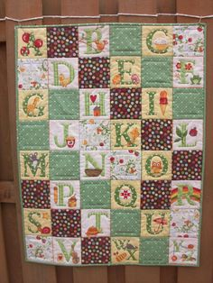 Alphabet Quilt by mollybees on Etsy, $34.00