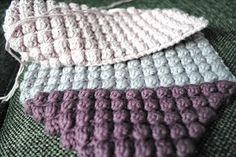 de små ting: Boble Stitch Merino Wool Blanket, Knit Crochet, Stitch, Knitting, Threading, Full Stop, Tricot, Breien, Ganchillo