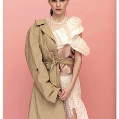 Kalmanovich SS'17 white organza dress featured in Aeroflot Style issue