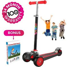 Buy Mobius Toys Scooter For Kids, Maxi Foldable Kick Scooter Deluxe, Handlebars Adjustable Age Surface Balance Technology Wheels 24 Months Guarantee eBookGift Talented Kids Secrets Best Scooter For Kids, Kids Scooter, Micro Kickboard, 3 Wheel Scooter, Micro Scooter, Aluminum Decking, Radio Flyer, 3rd Wheel, Ride On Toys